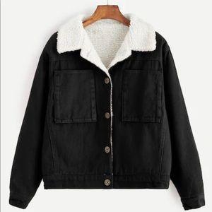 Jackets & Blazers - Black Sherpa Lined Corduroy Jacket M